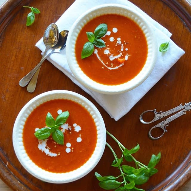 Simple tomato soup. Photo and recipe by That Healthy Kitchen