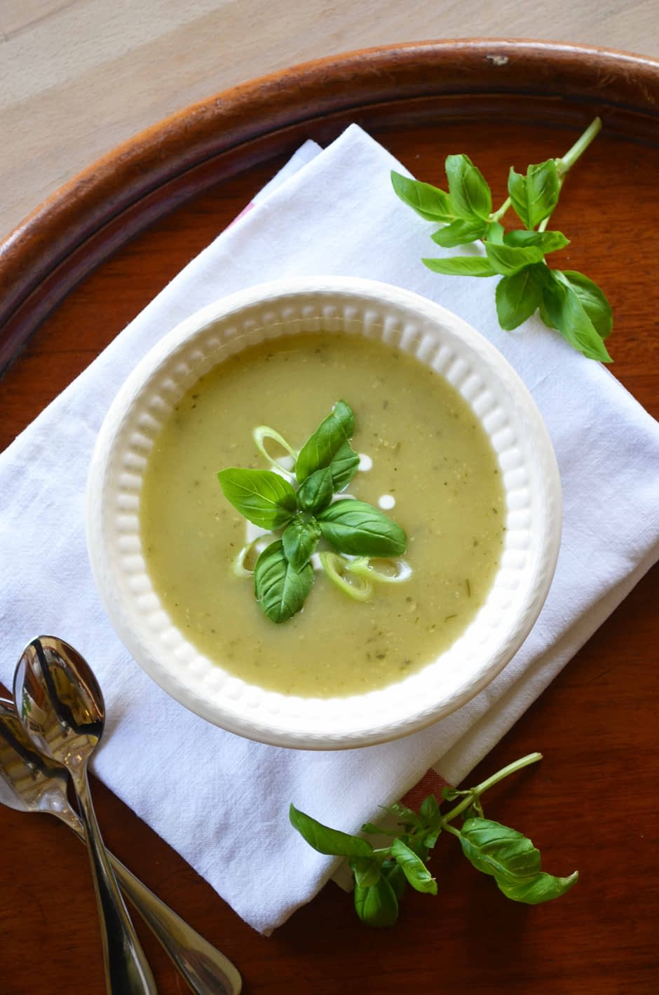 Simple zucchini soup. Photo and recipe by That Healthy Kitchen