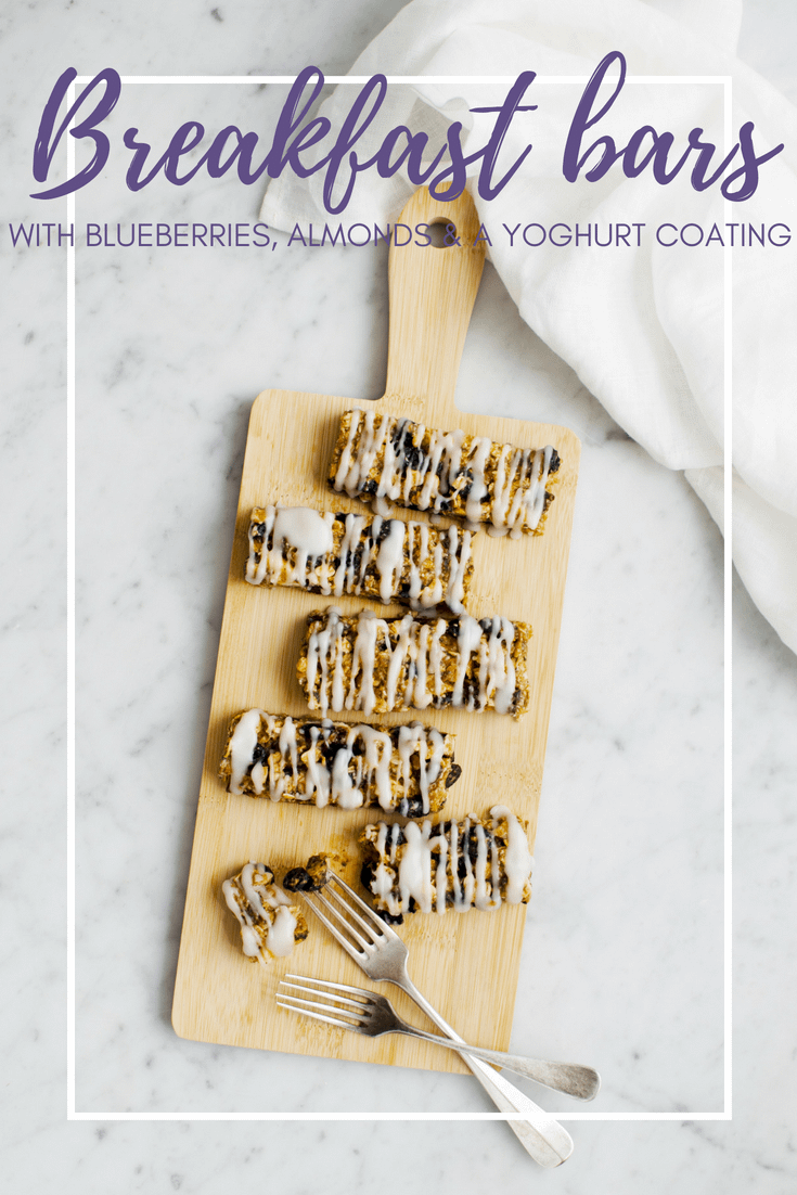 Soft and chewy blueberry granola bars with almond butter and a (vegan) yoghurt coating. These are better than the store bought ones for sure!! Recipe via That Healthy Kitchen