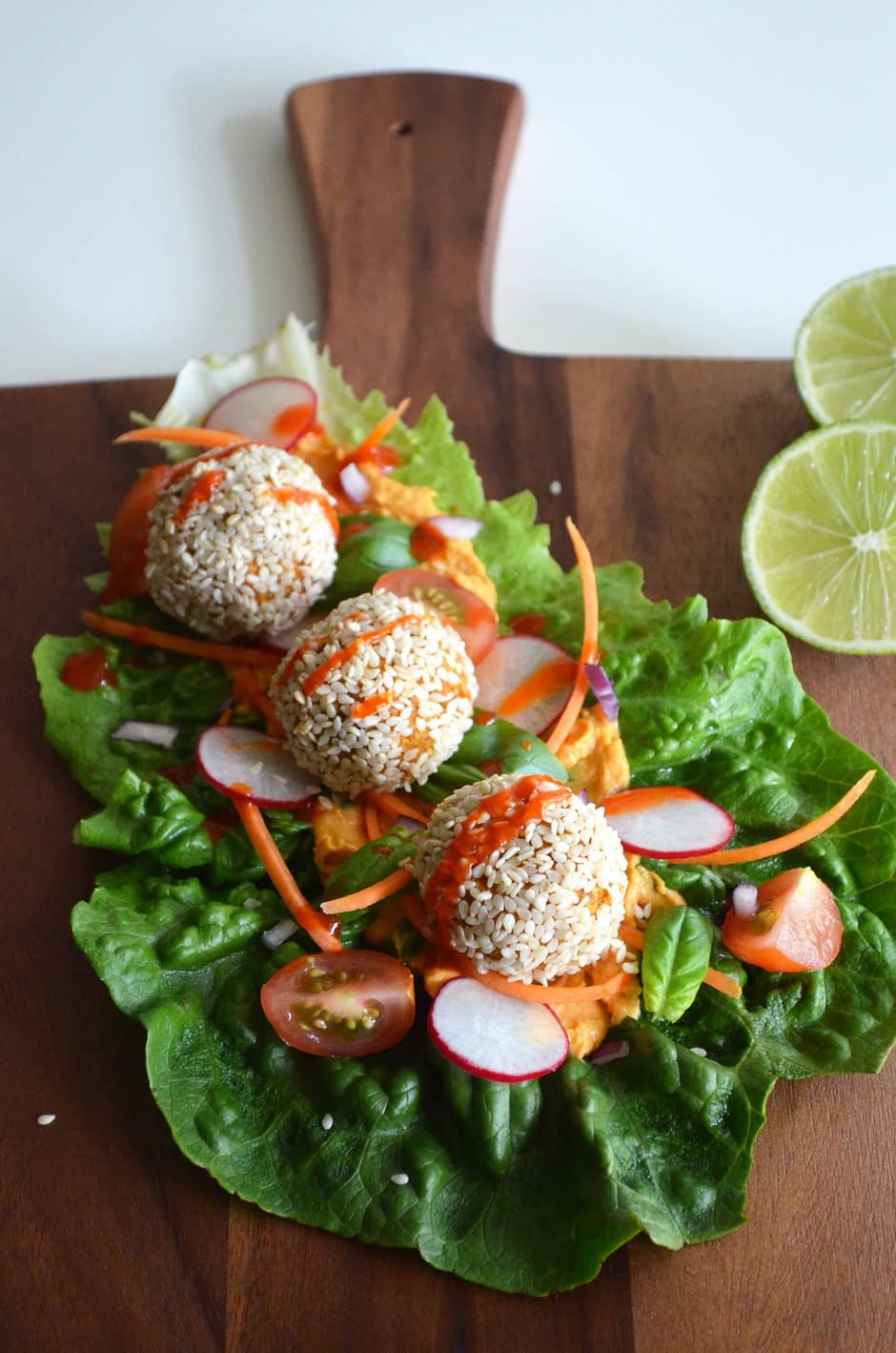 Sweet Potato and Lemon Baked Falafel. Photo and recipe by That Healthy Kitchen