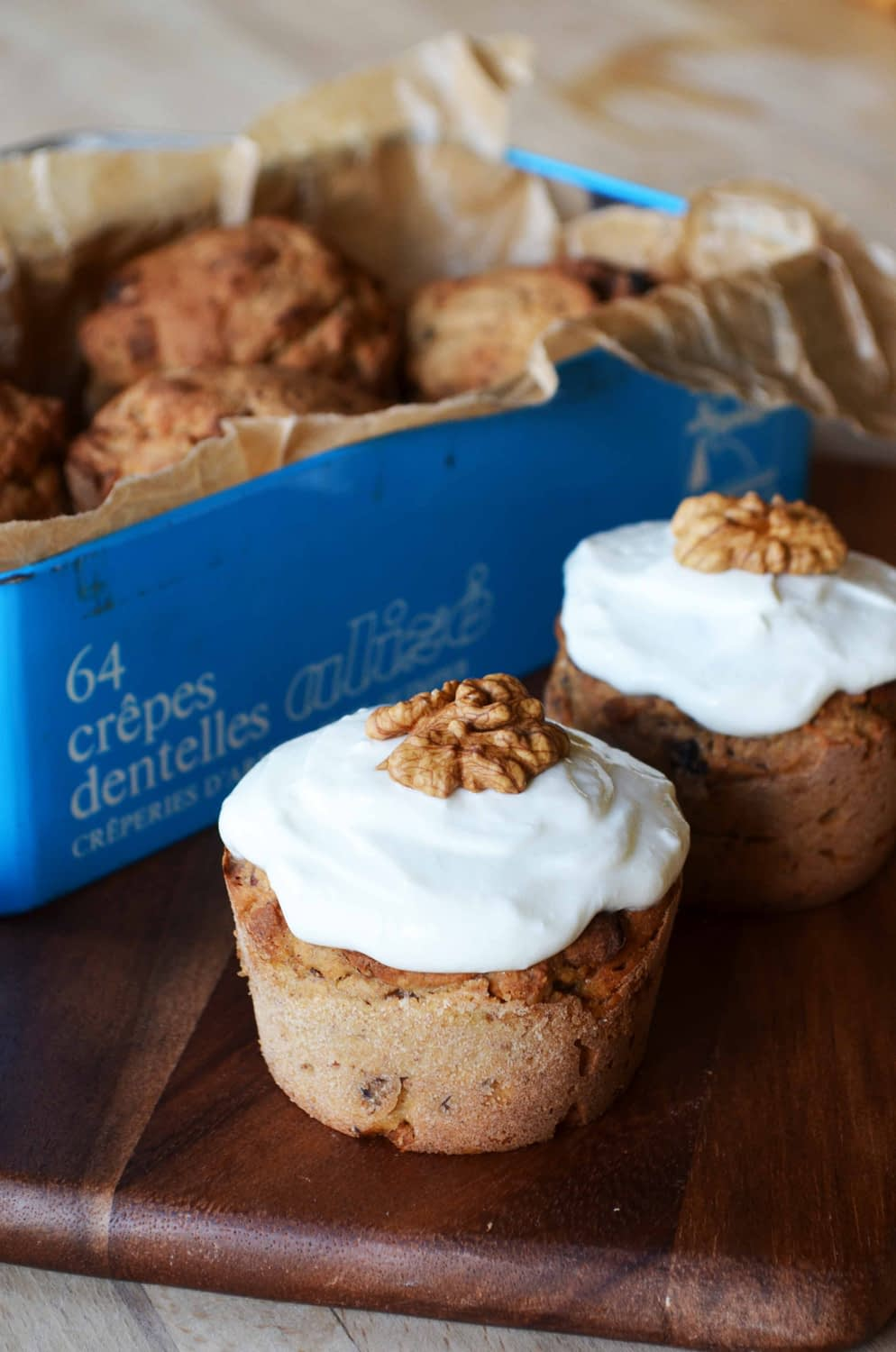 Apple Muffins with Walnuts, Cinnamon and Zante Currants