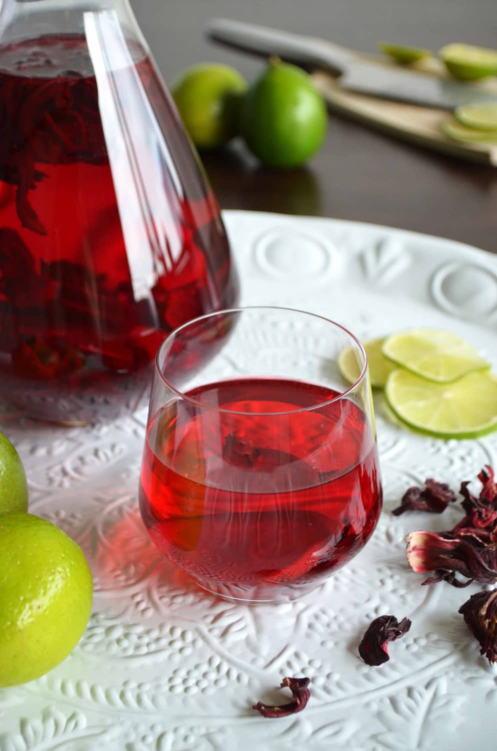 Cold Brewed Jamaican Hibiscus Iced Tea